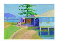colour sketch - dangar island by roy de maistre