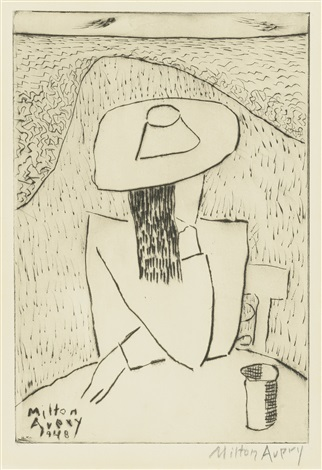 riders in the park and march at a table march on terrace 2 works by milton avery
