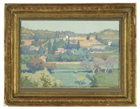 french countryside by georges paul leroux