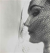 veiled hat (evelyn tripp), new york by irving penn