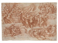 a bacchanal of children by giulio clovio