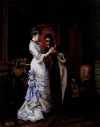 l'élégante dans son boudoir by pierre emile a. veyssier