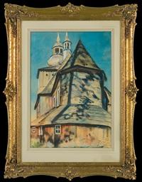church near cracow by julian falat