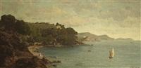 vue du fort du cap brunet et de la rade de toulon by emmanuel joseph lauret