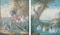 basse-cour (+ canards deux; 2 works) by j. f. hefele