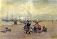 l'attente sur la plage by gustave david