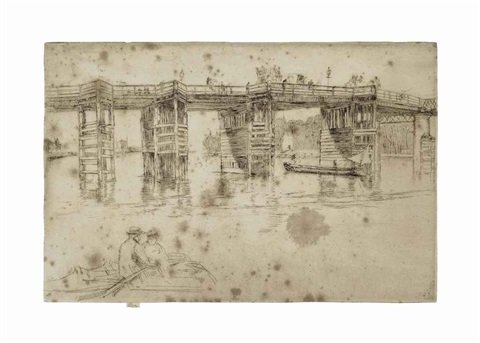 old putney bridge by james abbott mcneill whistler