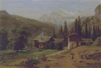 blick auf das weißhorn im wallis by wilhelm julius august nabert