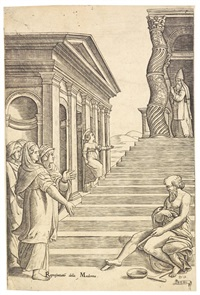 die präsentation mariens im tempel by giovanni antonio da brescia