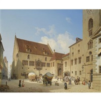 das rathaus in regensburg (the town hall in regensburg) by michael neher