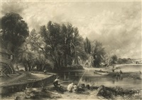 various subjects of landscape, characteristic of english scenery (after john constable) (set of 80) by david lucas
