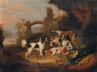 resting hounds by adriaen beeldemaker