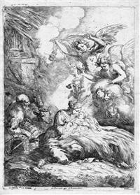 natività con gli angeli by bartolomeo biscaino