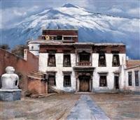 tibetan temple by li zhongliang