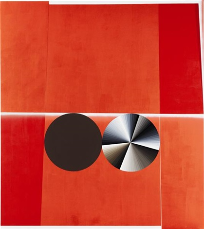 double circle no1 red brown white grey partial eclipse by garth weiser