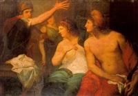 hector scolding paris by gaspare landi