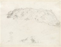 two pencil nature studies (2 works) by martin johnson heade