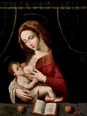 virgen con el niño by flemish school 16