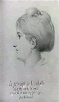 portrait de la princesse de lamballe by r. gabriel