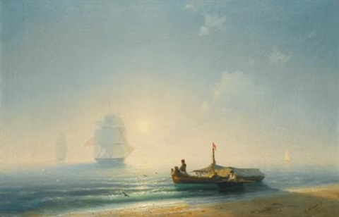 fishermen at dawn naples by ivan konstantinovich aivazovsky