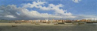 a panoramic view of the bay of belém do pará, brazil by giuseppe leone righini