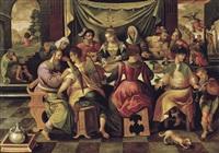 fête (représentation biblique) by ambrosius francken the elder