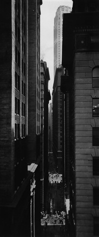 view of exchange place new york by berenice abbott