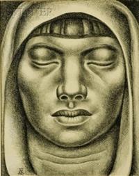female head by luis alberto acuna