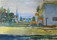 karoo town scene by gerhard batha