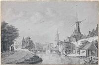 l'entrée d'une ville, en hollande by theodor (dirk) verryck