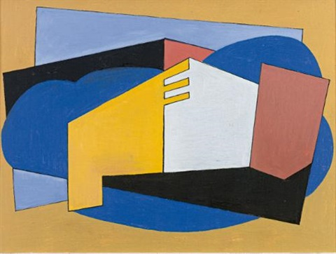 abstract composition untitled by albert eugene gallatin
