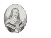 charles i (1600-1649), king of england, scotland and ireland (1625-1649), wearing ermine-trimmed cloak, lace collar and the collar of the order of st. george, his hair worn to his shoulders by john faber the elder