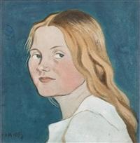 fru arosenius (porträtt av konstnärens hustru) by ivar arosenius