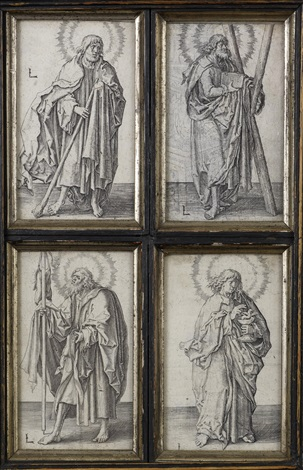 st andrew st john the evangelist st james the greater st judas thaddeus from christ and the apostles 4 works by lucas van leyden