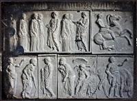 plaster casts of a parthenon frieze by charles nègre
