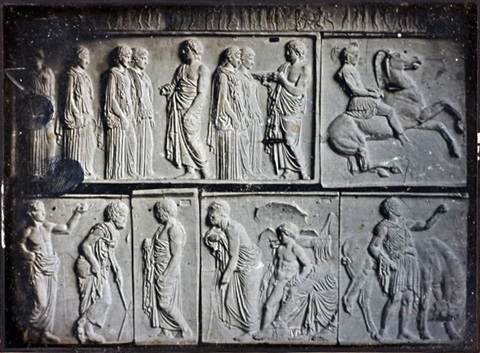 plaster casts of a parthenon frieze by charles nègre