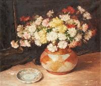 vase fleuri by aristide goffinon
