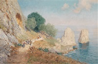 die faraglioni auf capri by georg michael meinzolt and johann friedrich hennings