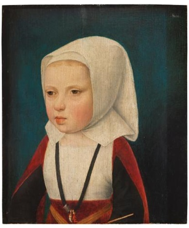 portrait of an infant princess bust length probably the archduchess isabella daughter of phillip the fair and sister of charles v by master of the magdalen legend