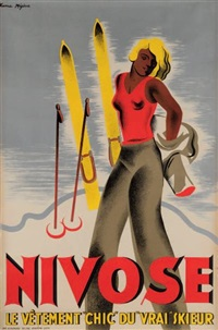 nivose, le vêtement chic du vrai skieur (set of 36) by karl machatcheck