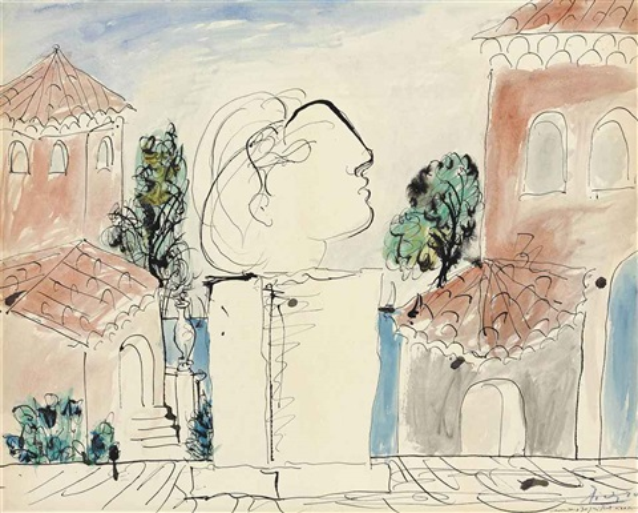 sur la terrasse by pablo picasso