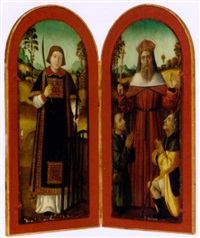 saint lawrence and saint louis with two pilgrims by french school-avignon (16)