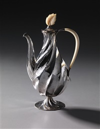 rare coffee pot, model no. s 5073 by dagobert peche