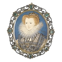 portrait of a noblewoman, lettice knollys (?) by nicholas hilliard