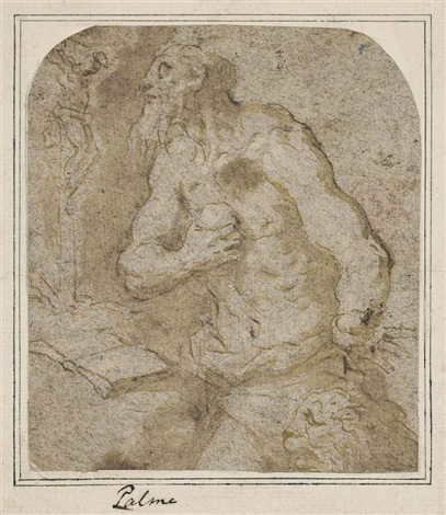 saint jerome in penitence by jacopo palma il giovane