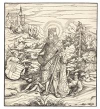 der heilige ladislaus, pl. 60 (from sipp-, mag- und schwägerschaft des kaisers maximilian i.) by leonhard beck