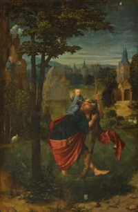 st. christopher by master of frankfurt