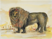 lion by bernard langlais