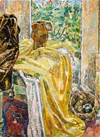 yellow drapes by grace cossington smith