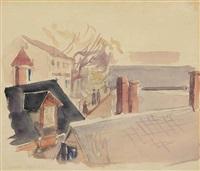 rooftops, gloucester by stuart davis